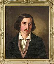 Hermann Maurice Cossmann (1821-1890), Bildnis eines jungen Mannes, eventuel