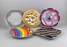Fünf Jahresteller, Rosenthal, Studio-Line, Kunstobjekt, Edition '71, Entwur