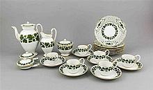 Kaffeeservice für sechs Personen, 23-tlg., Marke 1850-1924, 1. W., Schwanen