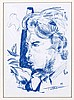 TOLLMANN Markus ''Pierre Brice'' Ölkreide auf Papier entstanden im Jahr 2011 unter Glas gerahmt zu diesem Lot gehört ein Buch über den Künstler ''Marius Tollmann und sein Werk'' Bild: H. 63 B. 44 cm Rahmen: H. 74 B. 54 cm. Spiegelfreies Glas in, Günter Tollmann, Click for value
