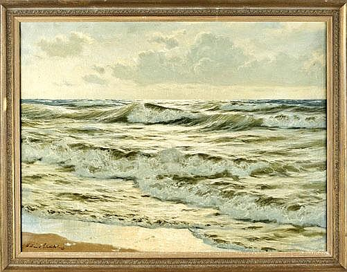 Waldemar Schlichting (1896-1970), Meeresbrandung,