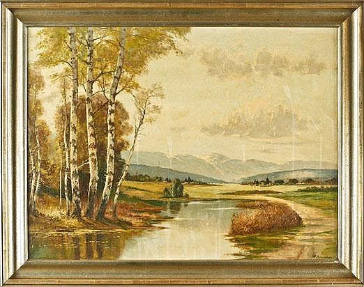 Albert Blaetter (1878-1935), dt. Landschaftsmaler,