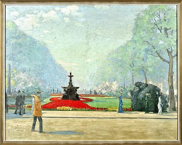 Ernst Dorn (1889-1927), Munich painter, 'walkers