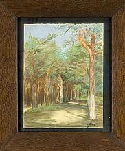 Carl Jörres (1872-1947) Waldweg. Pastell signier
