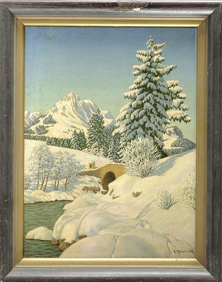 Arweiler Karl (1888-1962), dt Landscape painter,