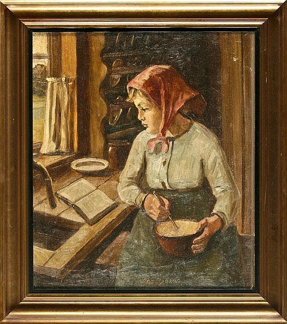 Christian AIGENS (1870-1940), Danish. Painters,