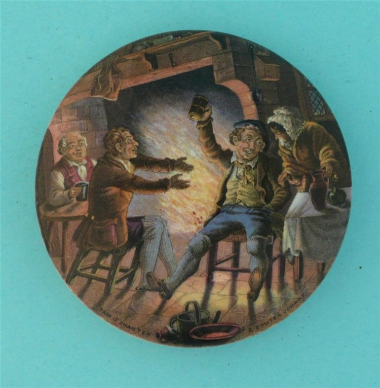 Tam-o-Shanter and Souter Johnny (346)    pot lid, pot lids, potlid, potlids