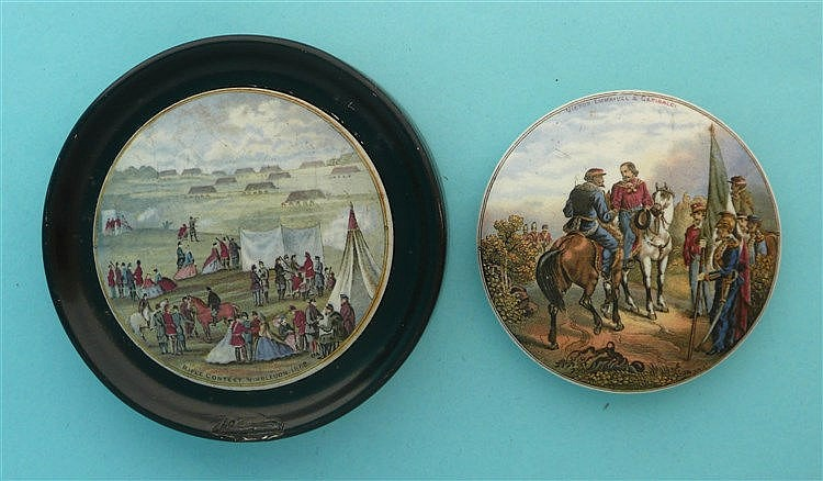 Rifle Contest 1862 (224) framed and Meeting of Garibaldi (21) (2)    pot li