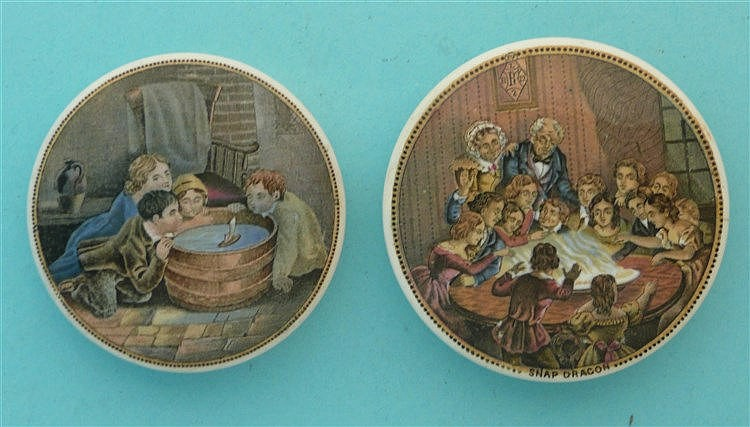 Children Sailing Boat (263) and Snapdragon (253) (2)    pot lid, pot lids,