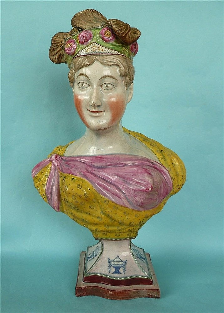 Princess Charlotte: a very impressive, decorative and colourful pearlware p