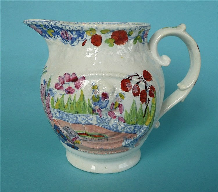 Queen Caroline: an oviform jug moulded with named portrait ovals superimpos