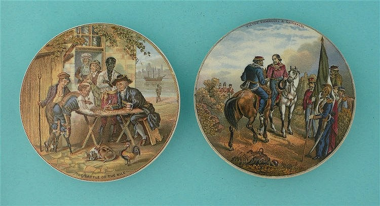 The Battle of the Nile (210) and Meeting of Garibaldi (211) (2)    pot lid,