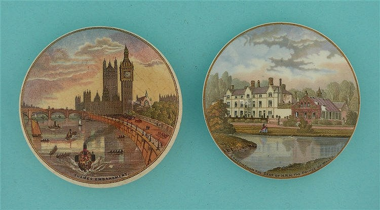 Thames Embankment (197) and Sandringham (181) (2)    pot lid, pot lids, pot