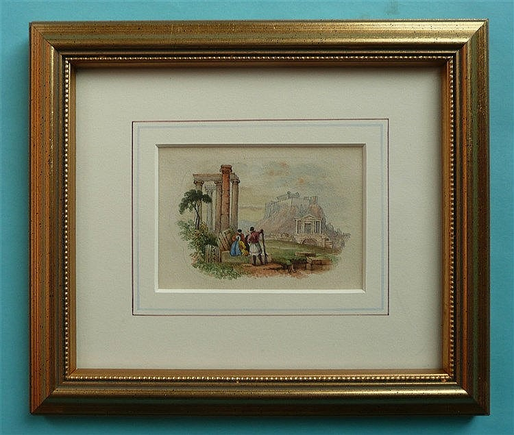Grecian Landscape (433) framed, the reverse inscribed and signed in pencil