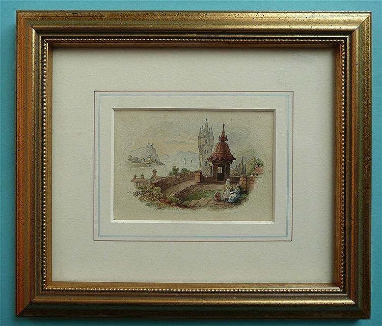 Continental Scene (383) framed, the reverse inscribed and signed in pencil