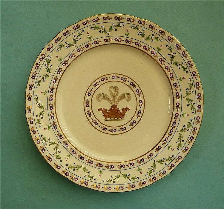 Prince of Wales (later George IV): an English porcelain plate well decorate