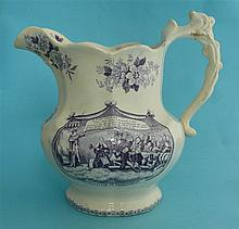 1832 Reform: a lobed pottery jug by Goodwins & Harris printed in purple wit