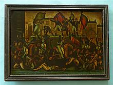 1819 Peterloo Massacre: a particularly rare and good glass picture graphica