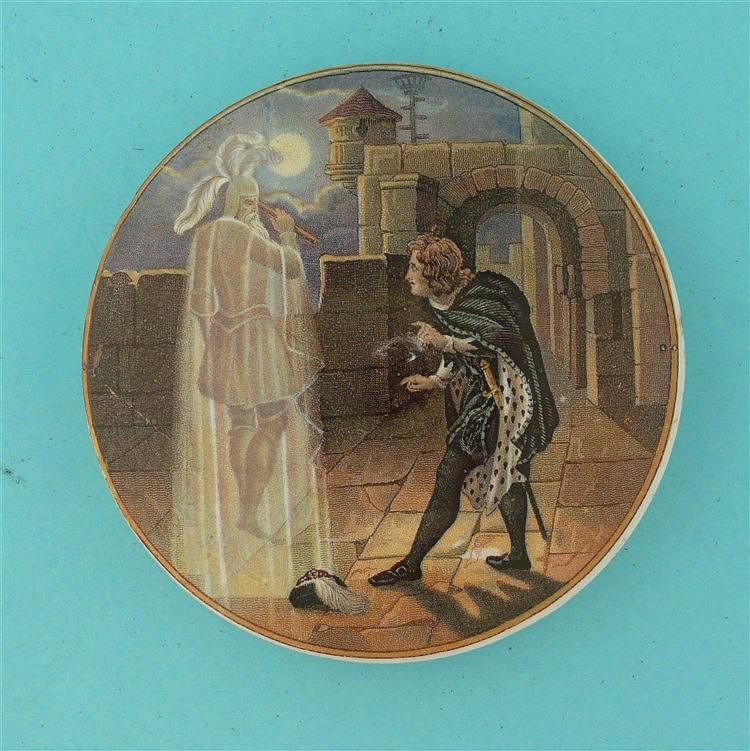 Hamlet and His Father's Ghost (231)    pot lid, pot lids, potlid, potlids,