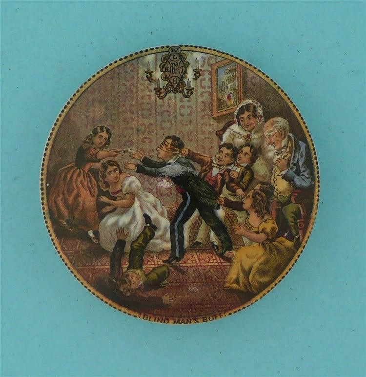 Blind Man's Buff (246)    pot lid, pot lids, potlid, potlids, prattware