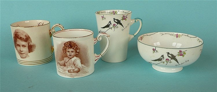 Princess Elizabeth: a small Paragon mug with named portrait after Marcus Ad