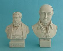 A small white portrait bust by Robinson & Leadbeater depicting Spurgeon, 12