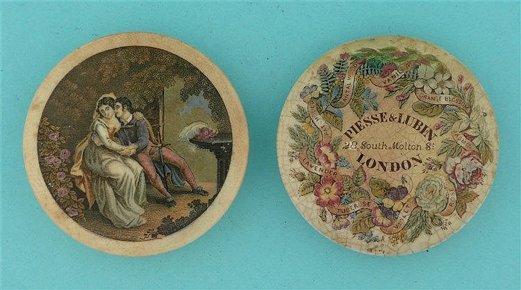 The Lovers (119) and Floral (131/5) both stained (2)    pot lid, pot lids,