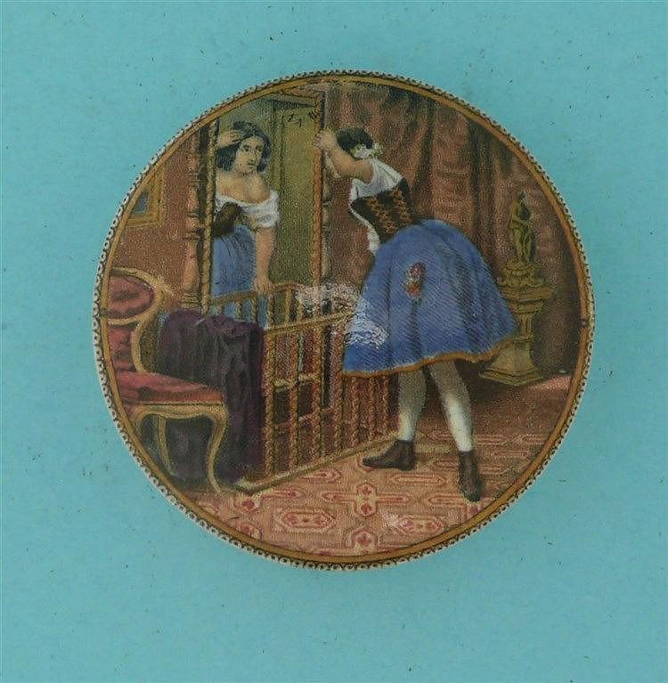 The Mirror (101)    pot lid, pot lids, potlid, potlids, prattware