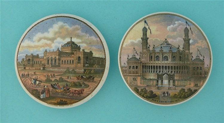Philadelphia Exhibition (147) and Paris Exhibition (148) (2)    pot lid, po