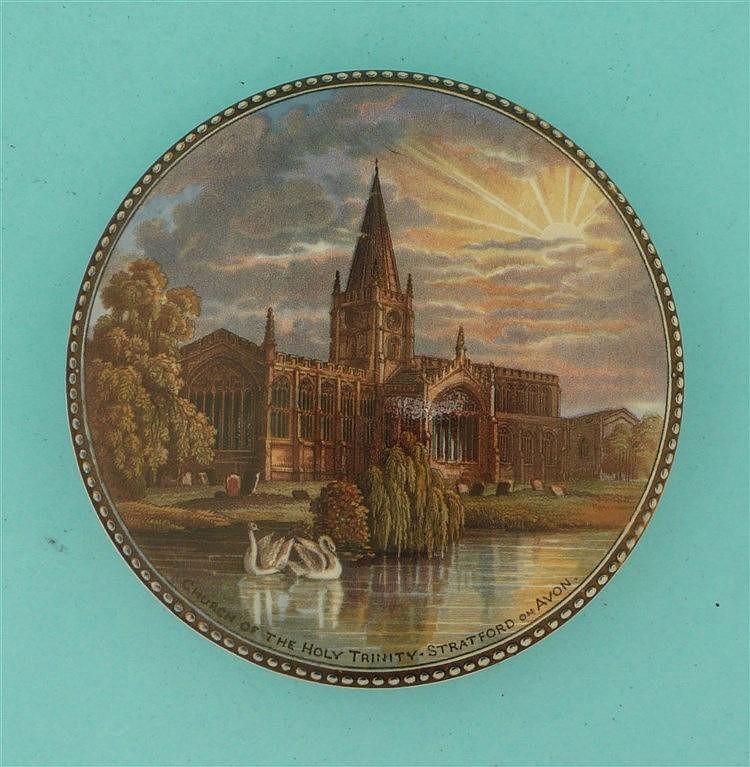 Holy Trinity Church (229) pot lid, pot lids, potlid, potlids, prattware