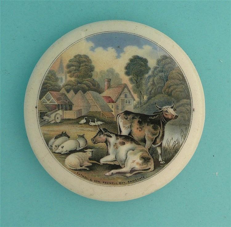 Pegwell Bay, Farmyard Scene (37) large pot lid, pot lids, potlid, potlid