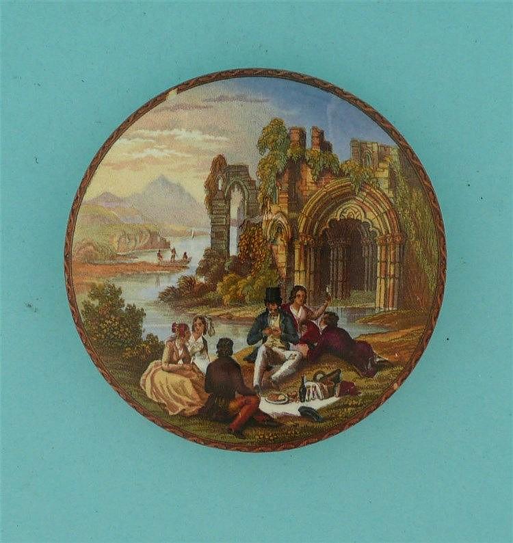 The Picnic (354)    pot lid, pot lids, potlid, potlids, prattware