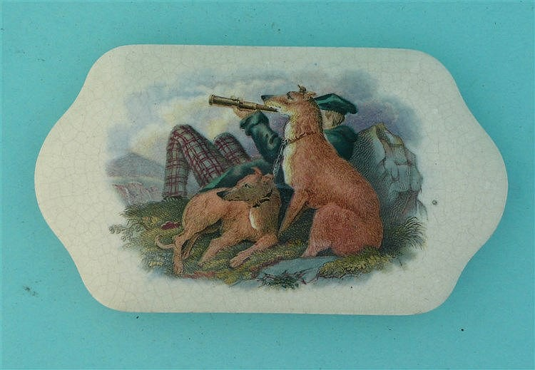 The Deer Stalker (384) pot lid, pot lids, potlid, potlids, prattware