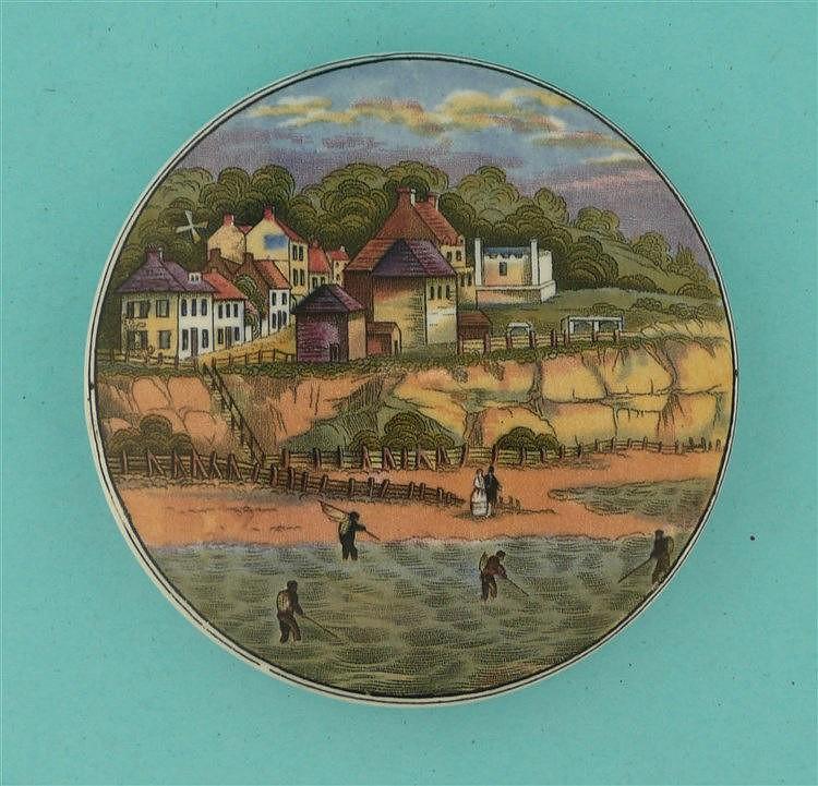 Pegwell Bay, Four Shrimpers (26) no title    pot lid, pot lids, potlid, pot