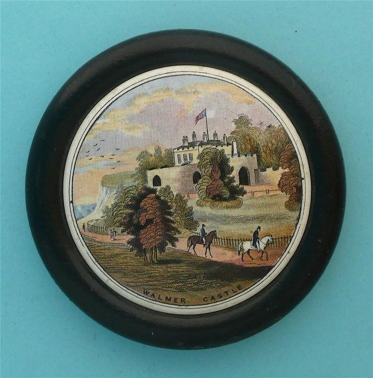 Walmer Castle (45) framed pot lid, pot lids, potlid, potlids, prattware