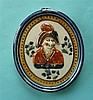 1819 Prince of Wales: an unusual and attractive Prattware plaque with integ
