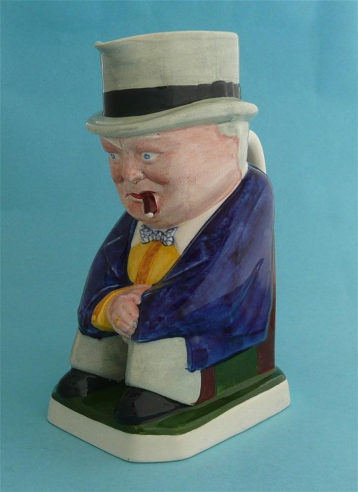 Winston Churchill: a colourful Copeland pottery toby jug, circa 1941, 218mm