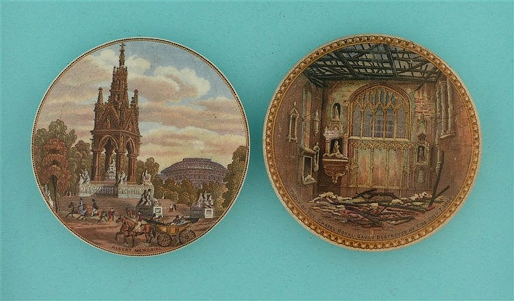 Albert Memorial (191) and Choir of the Chapel Royal (199) (2)    pot lid, p