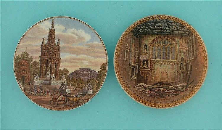 Albert Memorial (191) and Choir of the Chapel Royal (199) (2)    pot lid, p