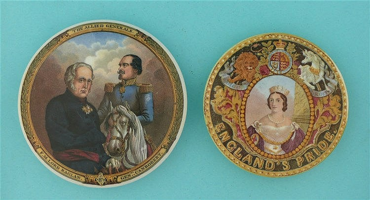 Allied Generals (168) and England's Pride (149) (2)    pot lid, pot lids, p