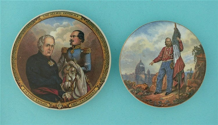 Allied Generals (168) and Garibaldi (169) (2)    pot lid, pot lids, potlid,