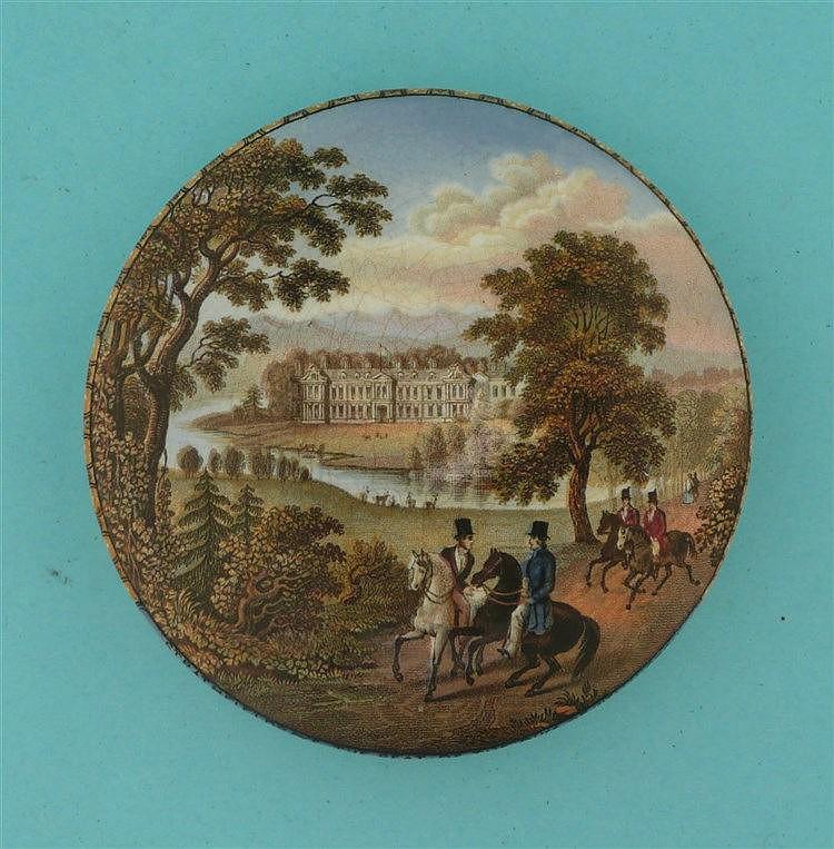 Strathfieldsaye (188) pot lid, pot lids, potlid, potlids, prattware