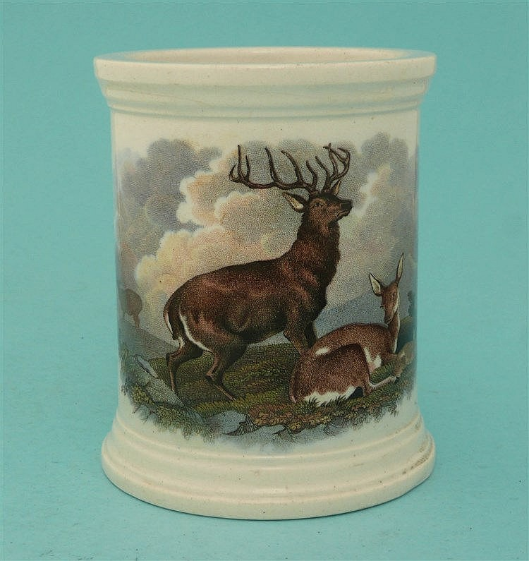 The Deer Stalker and Wild Deer (92, 92A)    pot lid, pot lids, potlid, potl