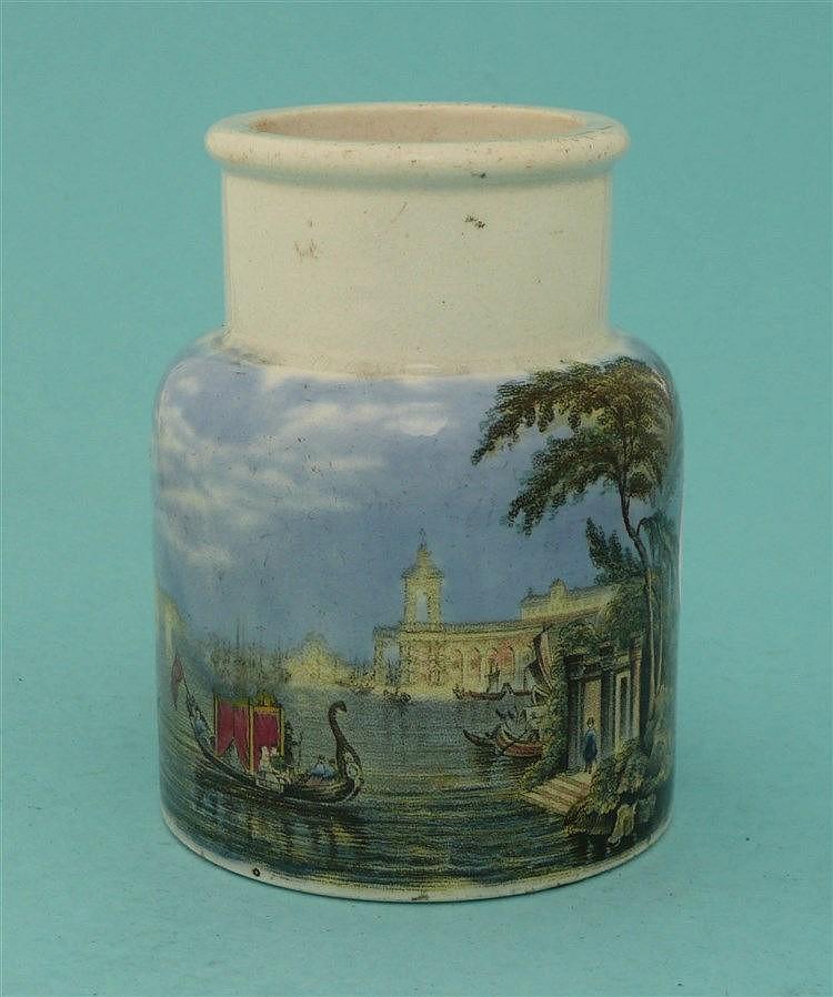 Venice (84)    pot lid, pot lids, potlid, potlids, prattware