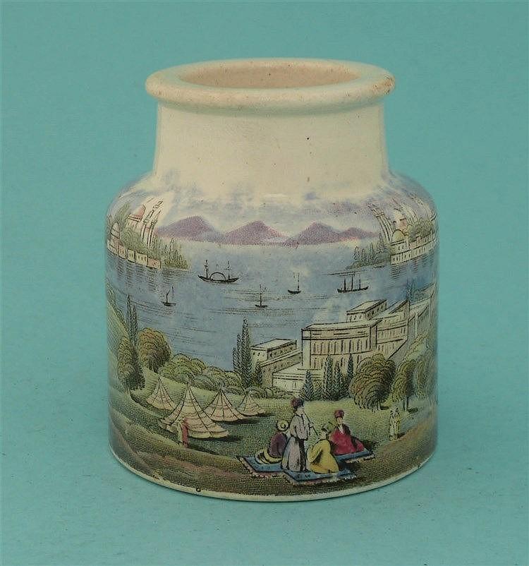 Constantinople (80)    pot lid, pot lids, potlid, potlids, prattware