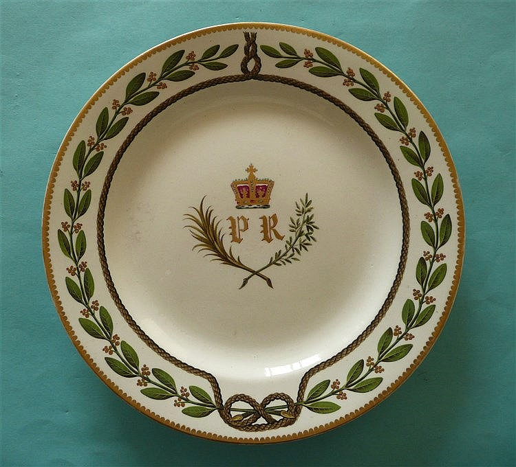 Prince Regent (later George IV): a good porcelain plate by Spode well decor