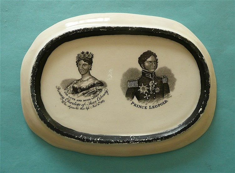 1817 Charlotte in memoriam: an oval porcelain plaque from a larger piece, p