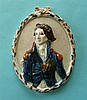 Admiral Lord Nelson: a good Prattware portrait medallion moulded with a hal