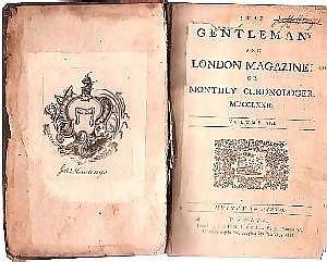 [ Americana ] Book, THE GENTLEMAN'S AND LONDON MAGAZINE, 824 pp., octavo, 1772, Dublin, Ireland. Science, history, politics, music and literature