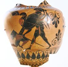 Attic Greek Black-Figure Amphora Fragment